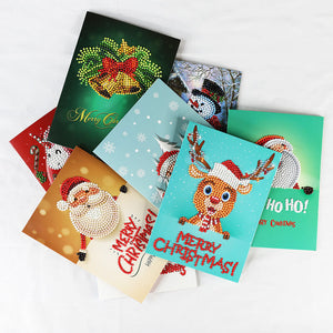 Christmas Diamond Painting Greeting Card Set - Stili galleggianti - Diamante Ricamo - Dipingi con diamante