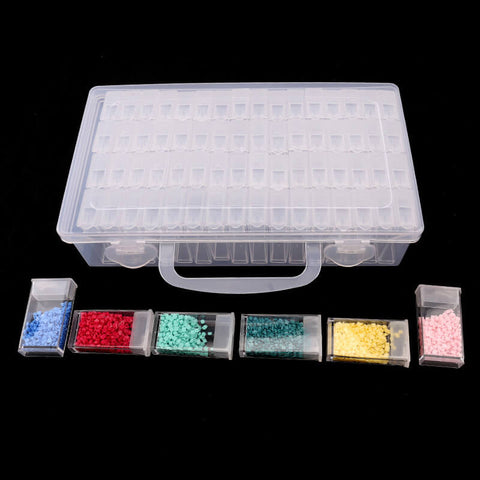Bilde av Diamond Painting Beads Large Organizer (64 Lattices) - Flytende stiler - Diamond Broderi - Maling med Diamond