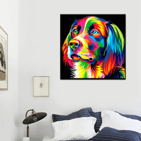 Diamond Painting - Rainbow Retriever - Floating Styles - Diamond Embroidery - Paint With Diamond