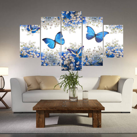 5 Panels Diamond Painting - Four Butterflies - Floating Styles - Diamond Embroidery - Paint With Diamond