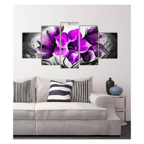 Obraz 5 Panels Diamond Painting - Violette - Floating Style - Diamond Haft - Paint With Diamond