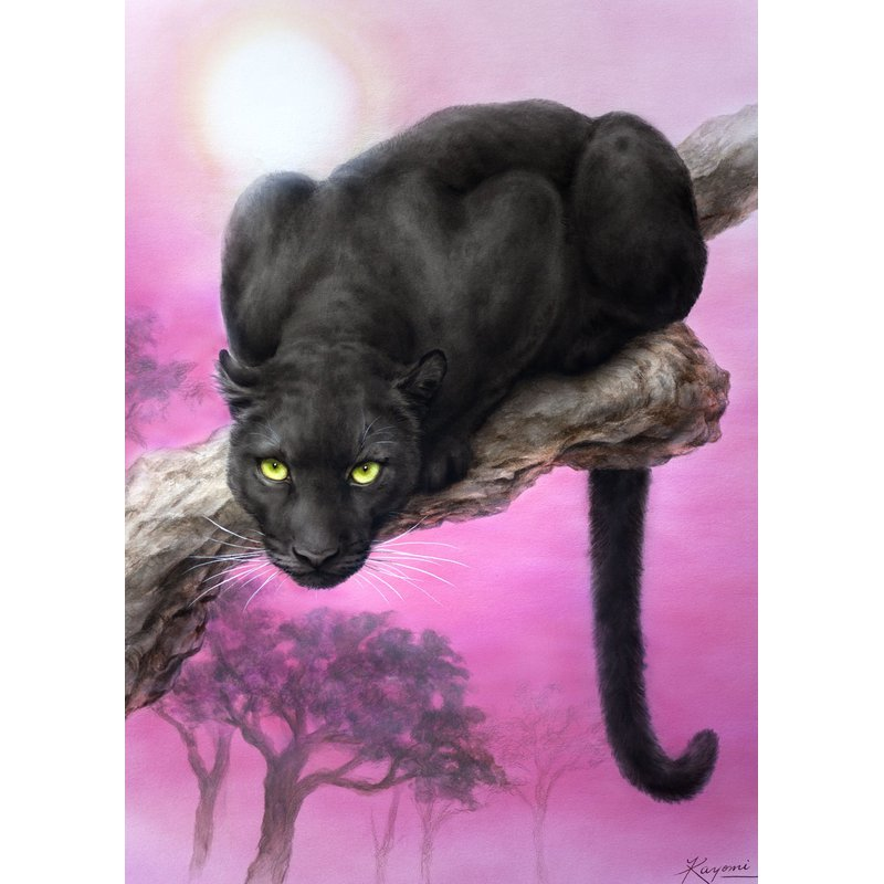Diamantmalerei - Panther - Floating Styles - Diamantstickerei - Malen mit Diamant