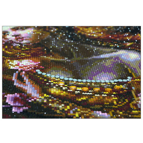 Immagine di Diamond Painting - Pretty Lady - Stili galleggianti - Diamante Ricamo - Dipingi con diamante