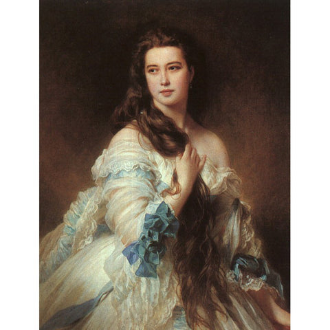 Diamond Painting - Barbe Dmitrievna Mergassov Madame Rimsky-Korsakov - Franz Xaver Winterhalter - Floating Styles - Diamond Embroidery - Paint With Diamond