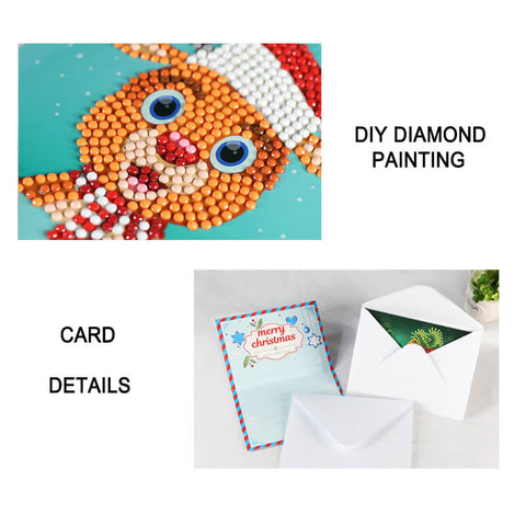 Afbeelding van Christmas Diamond Painting Greeting Card Set - Drijvende stijlen - Diamond Embroidery - Paint With Diamond