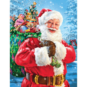 Diamond Painting - Santa Magic Bag - Drijvende stijlen - Diamond Embroidery - Paint With Diamond