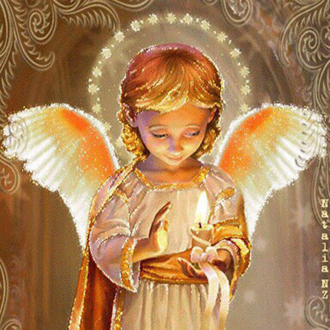 Image of Diamond Painting - Beautiful Baby Angel - Floating Styles - Diamond Embroidery - Paint With Diamond