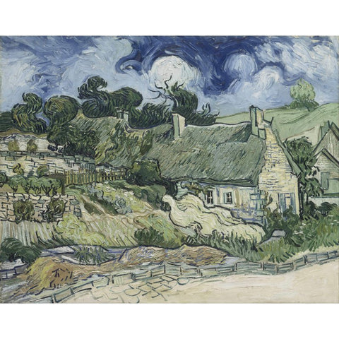Image of Diamond Painting - Van Gogh - Thatched Cottages at Cordeville