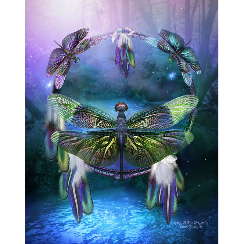 Diamond Painting - Spirit Of The Dragonfly - Floating Styles - Diamond Embroidery - Paint With Diamond
