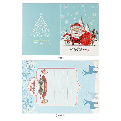 Immagine di Christmas Diamond Painting Greeting Card - 05 - Stili galleggianti - Diamante Ricamo - Dipingi con diamante