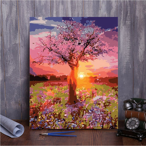 Paint by Numbers - Mother Tree - Floating Styles - Diamond Embroidery - Paint With Diamond
