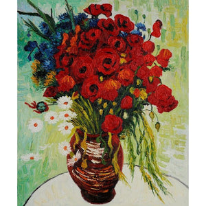 Diamond Painting - Van Gogh - Vase with Daisies and Poppies