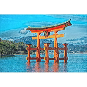 Diamond Painting - Torii on Water