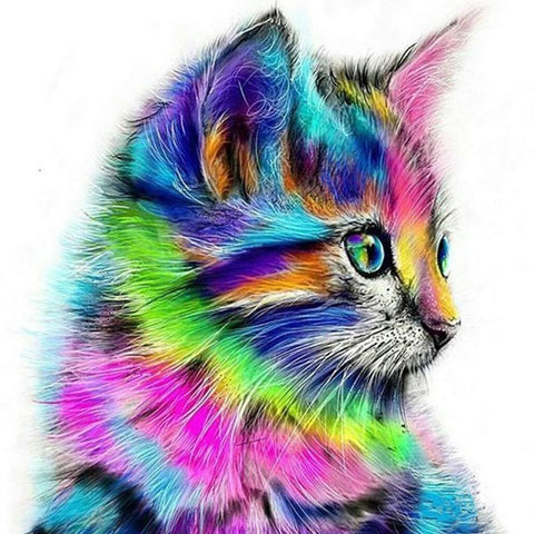 Imagen de Diamond Painting - Rainbow Cat