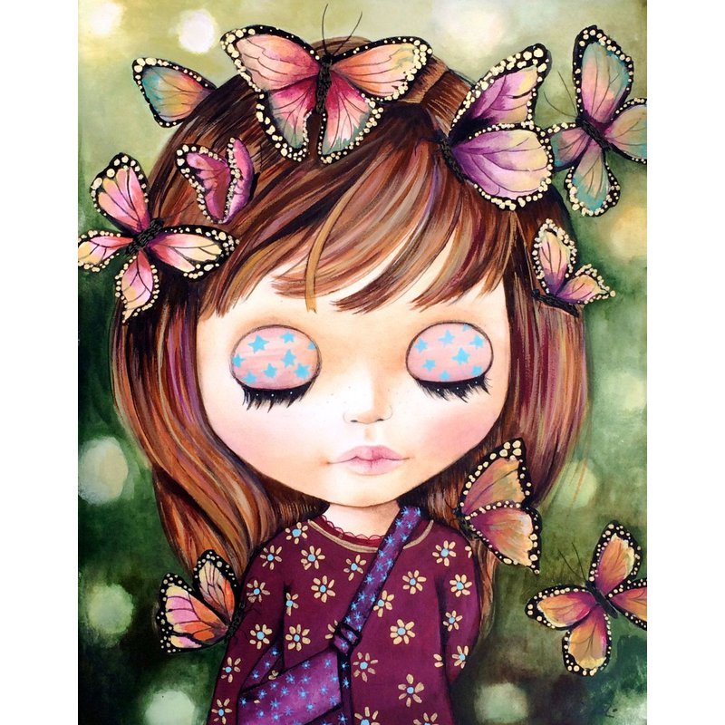 Diamond Painting - Butterfly Baby - Floating Styles - Diamond Embroidery - Paint With Diamond