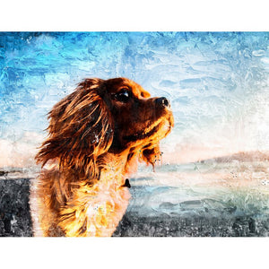 Diamond Painting - The Dog Looking At the Sky