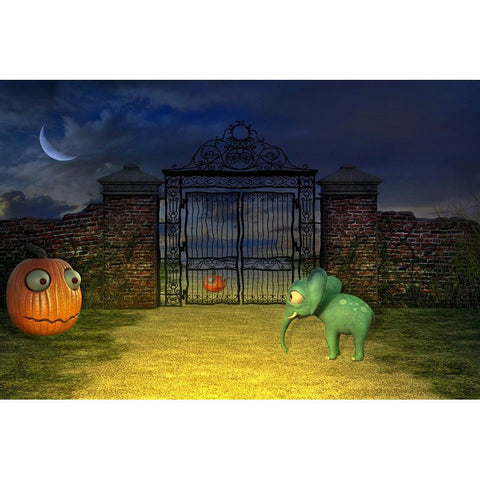 Εικόνα του Diamond Painting - Fantasy Halloween Pumpkin Funny