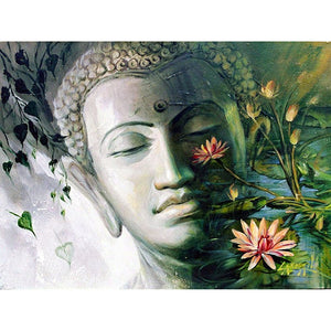Diamond Painting - Buddha Zen Lotus - Stili fluttuanti - Ricamo a diamante - Dipingi con diamante
