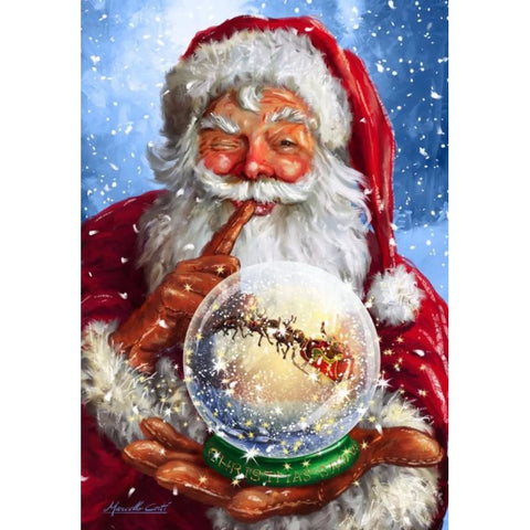 Image of Diamond Painting - Santa's Crystal Ball - Floating Styles - Diamond Embroidery - Paint With Diamond