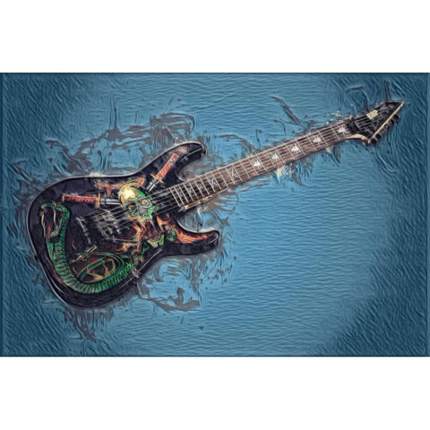 Pintura Diamante - Guitarra Elétrica Crânio (FloatingStyle Art)