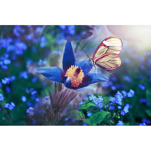 Diamond Painting - Butterfly and the Flower