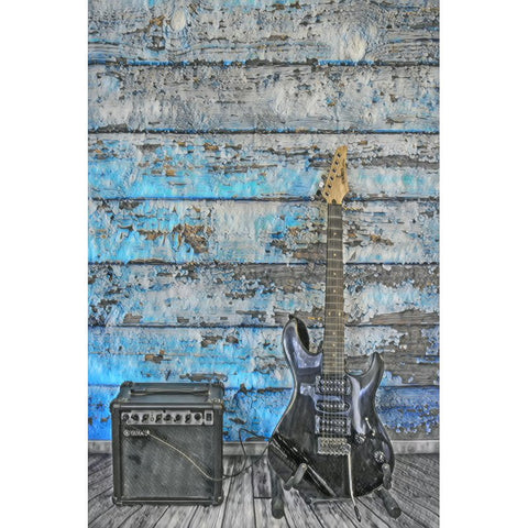 Diamond Painting - Lonely Eletric Guitar (FloatingStyle Art) - Floating Styles - Diamond Embroidery - Paint With Diamond