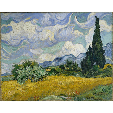 Image of Diamond Painting - Van Gogh - Wheat Field With Cypresses