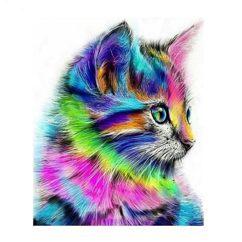 Diamond Painting - Aurora Cat - Drijvende stijlen - Diamond Embroidery - Paint With Diamond