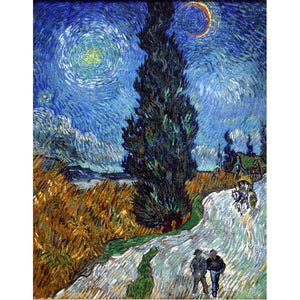 Diamond Painting - Van Gogh - Road with Cypress and Star