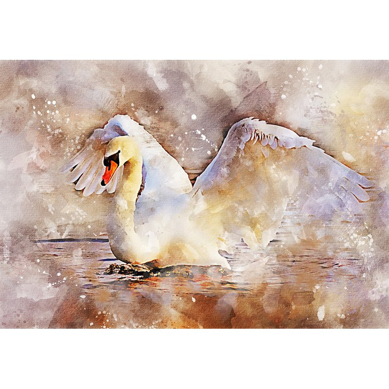 Diamond Painting - Swan in Lake