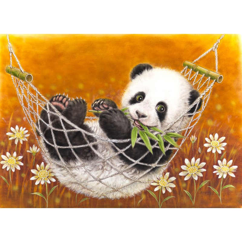 Diamantmalerei - Happy Panda - Floating Styles - Diamantstickerei - Malen mit Diamant
