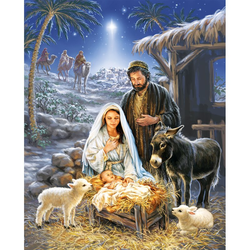 Diamond Painting - Jesus Was Born - Floating Styles - Diamond Embroidery - Paint With Diamond
