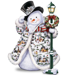 Diamond Painting - Mr Snowman - Floating Styles - Diamond Embroidery - Paint With Diamond