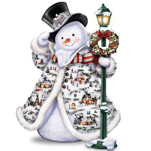 Diamond Painting - Mr Snowman - Drijvende stijlen - Diamond Embroidery - Paint With Diamond