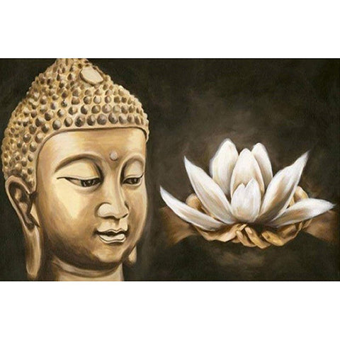 Íomhá de Diamond Painting - Buddha Lotus