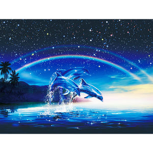 Diamond Painting - Three Dolphins