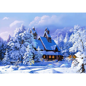 Diamond Painting - Winter Cottage