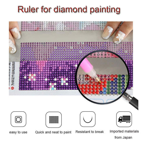 5D Diamond Painting Anti-Adhesive Ruler For Round Beads - Floating Styles - Diamond Embroidery - Paint With Diamond