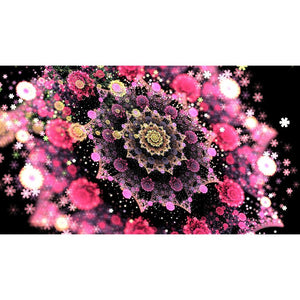 Diamond Painting - Flower Sky - Floating Styles - Diamond Embroidery - Paint With Diamond