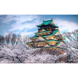 Diamond Painting - Japanese Castle - Floating Styles - Diamond Embroidery - Paint With Diamond