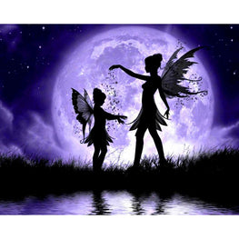 Diamond Painting - Magical Dance in Moonlight - Floating Styles - Diamond Embroidery - Paint With Diamond