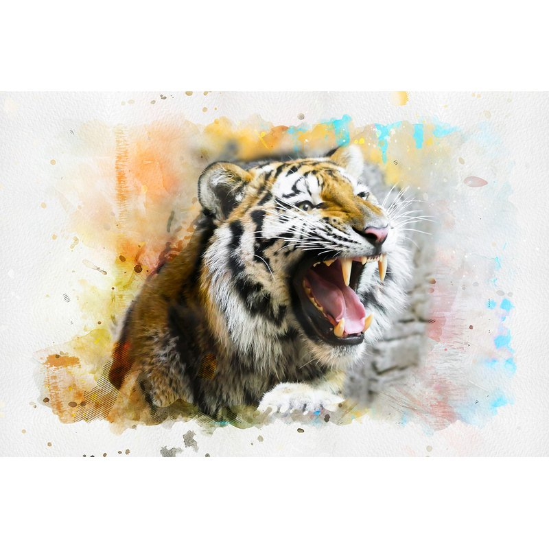 Diamond Painting - Angry Tiger