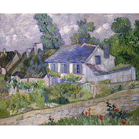 Auvers의 Diamond Painting-Van Gogh-Houses 이미지