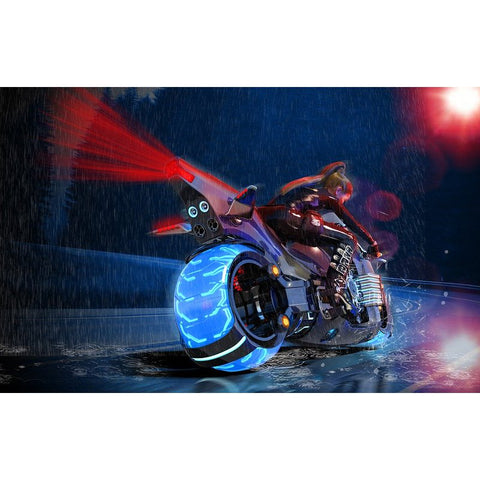 Bilde av Diamond Painting - Motorcycle in Rain