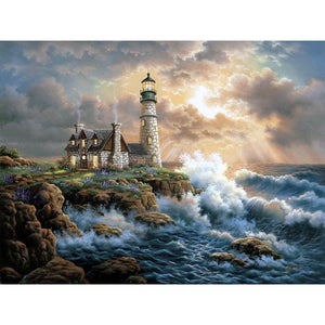 Diamond Painting - LIghthouse - 16 - Floating Styles - Diamond Embroidery - Verf met diamant