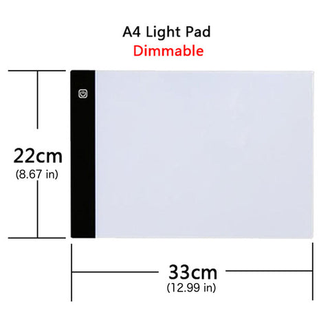 Verbesserte Dimmable Light Pad für Diamantmalerei - Floating Styles - Diamantstickerei - Malen mit Diamant