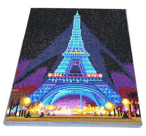 LED Light Diamond Painting Full Round Drill 30x40cm