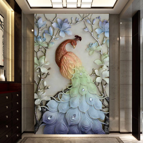 Afbeelding van Diamond Painting - Fairy Peacock - Floating Styles - Diamond Embroidery - Paint With Diamond