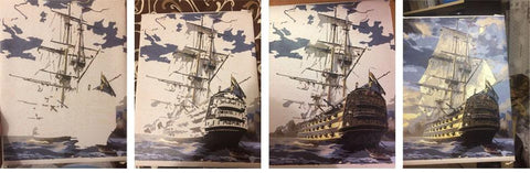 Image of Paint by Numbers - Sailing Ship - Floating Styles - Diamond Embroidery - Paint With Diamond