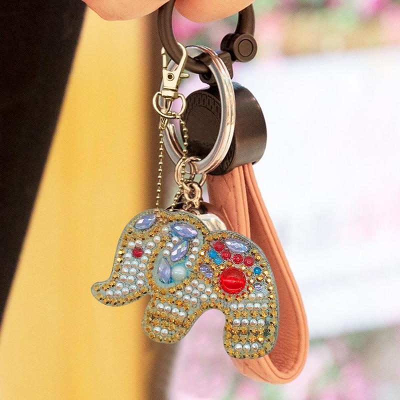 DIY Diamond Painting Keychain